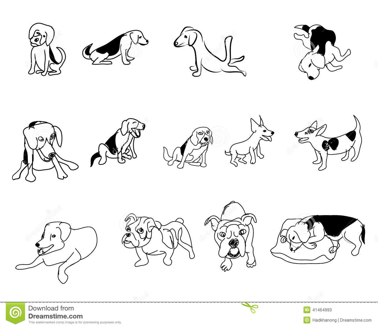Doodle Drawing Of Dog Stock Illustration