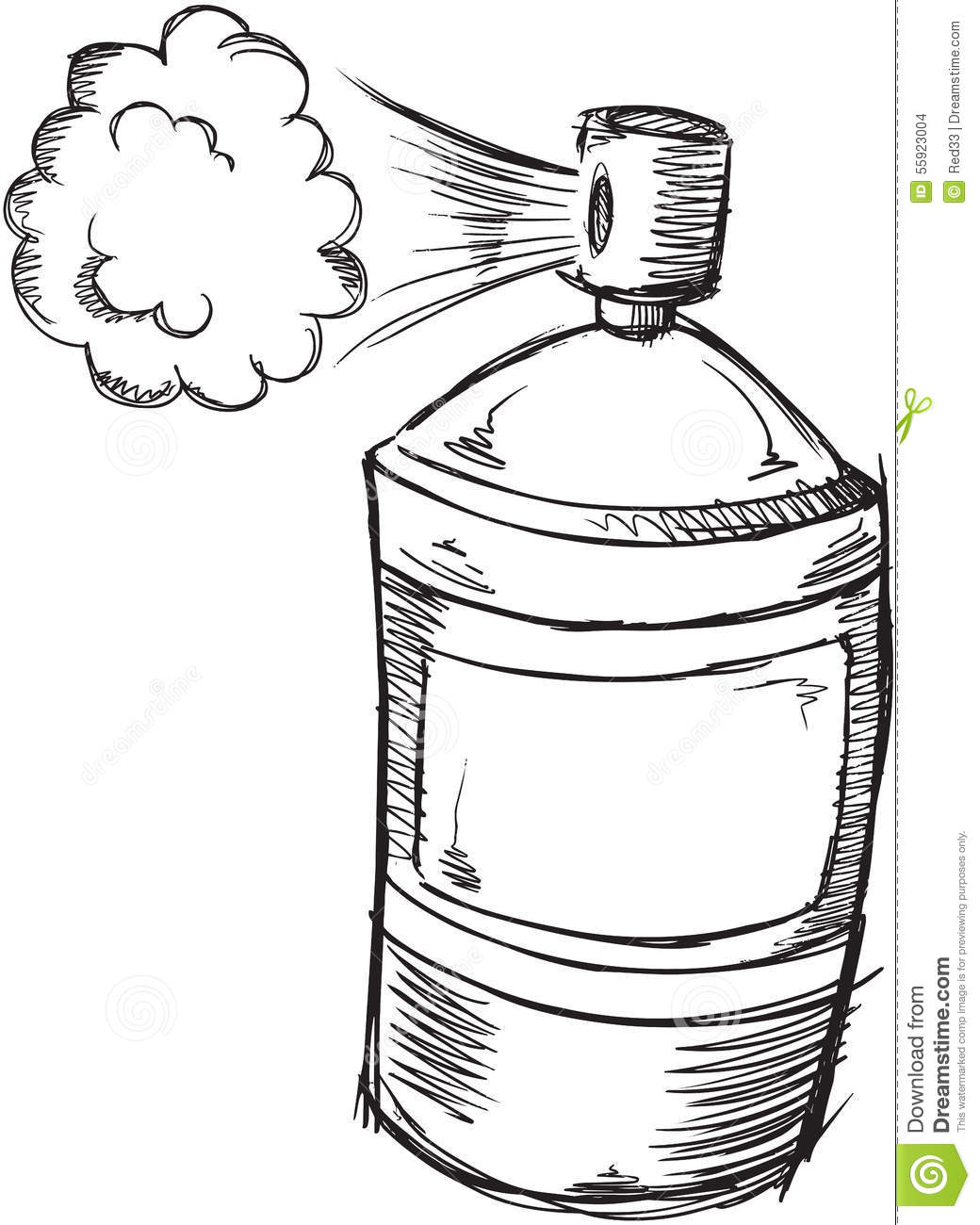 Doodle Spray Can Vector Stock Vector Illustration Of