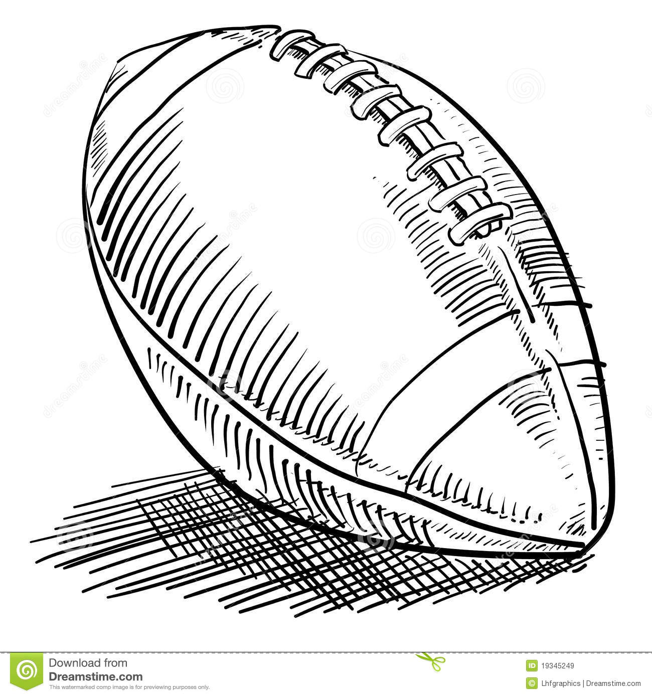 Doodle Style Football Stock Vector Illustration Of