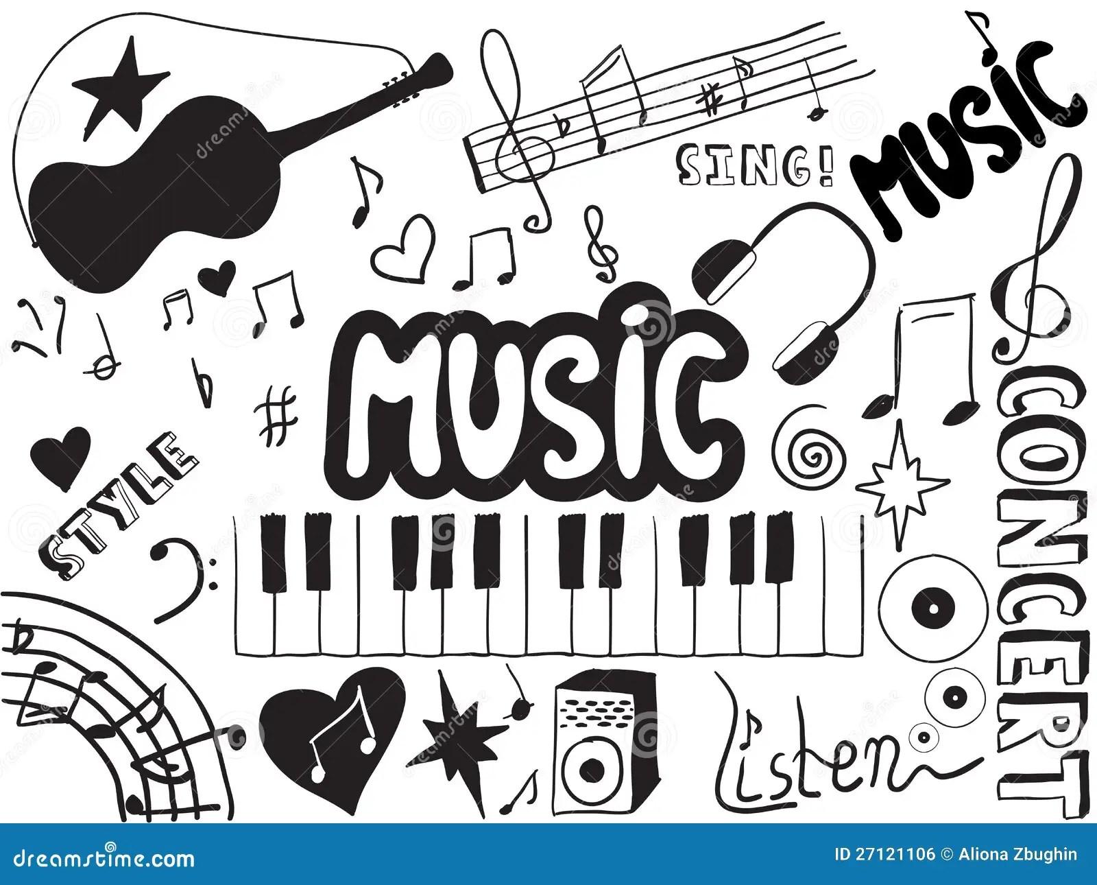 Doodles Di Musica Illustrazione Vettoriale Illustrazione
