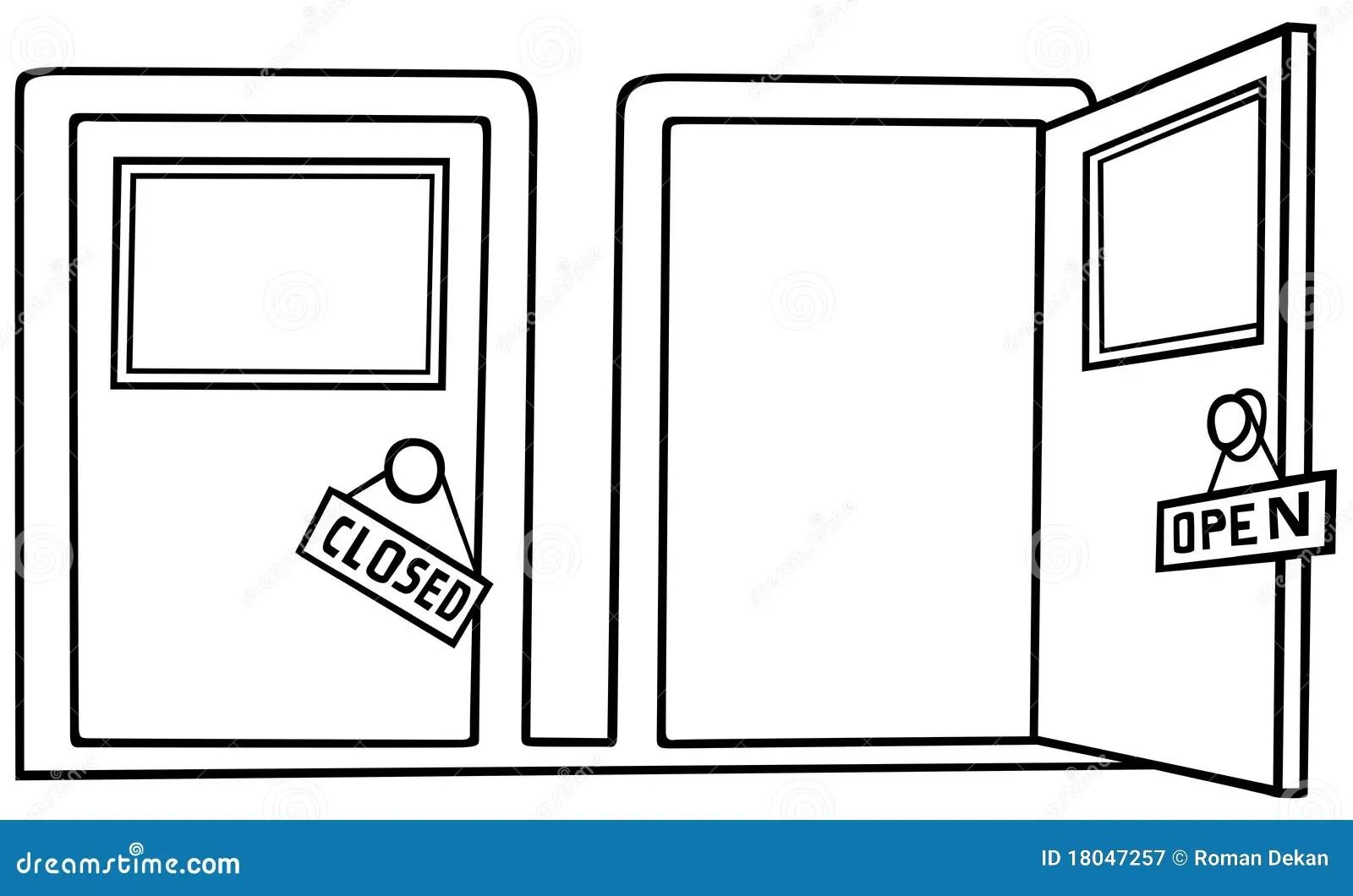 Door Open And Close Stock Vector Illustration Of Open