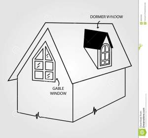 Dormer and gable window stock photo Image of realty