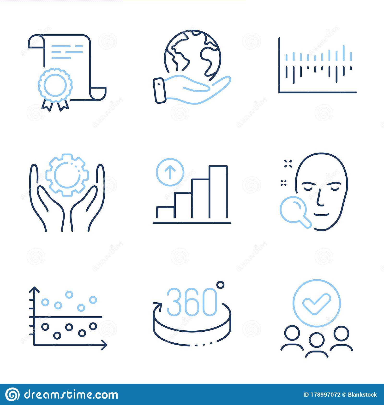 Dot Plot 360 Degrees And Face Search Icons Set Employee