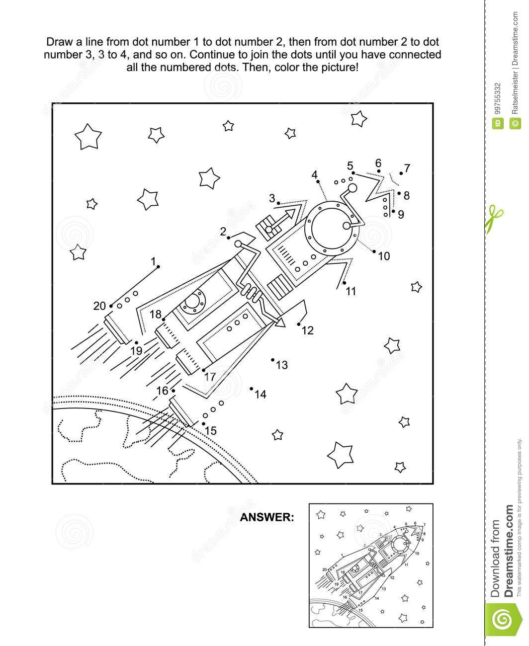 Dot To Dot And Coloring Activity Page