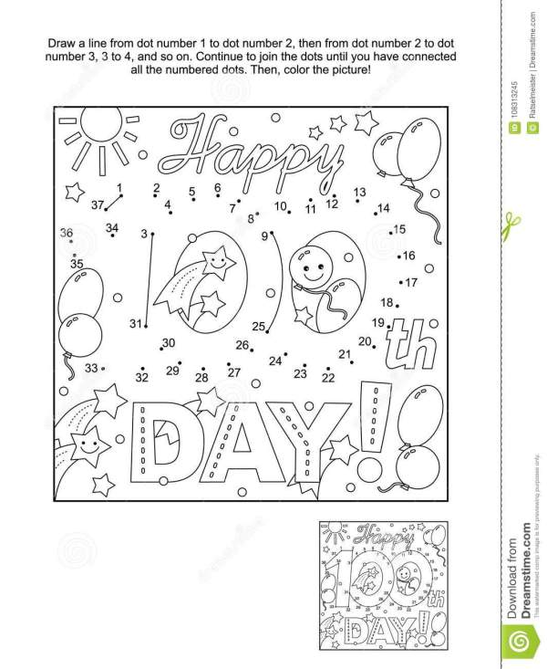 100th day of school coloring pages # 79