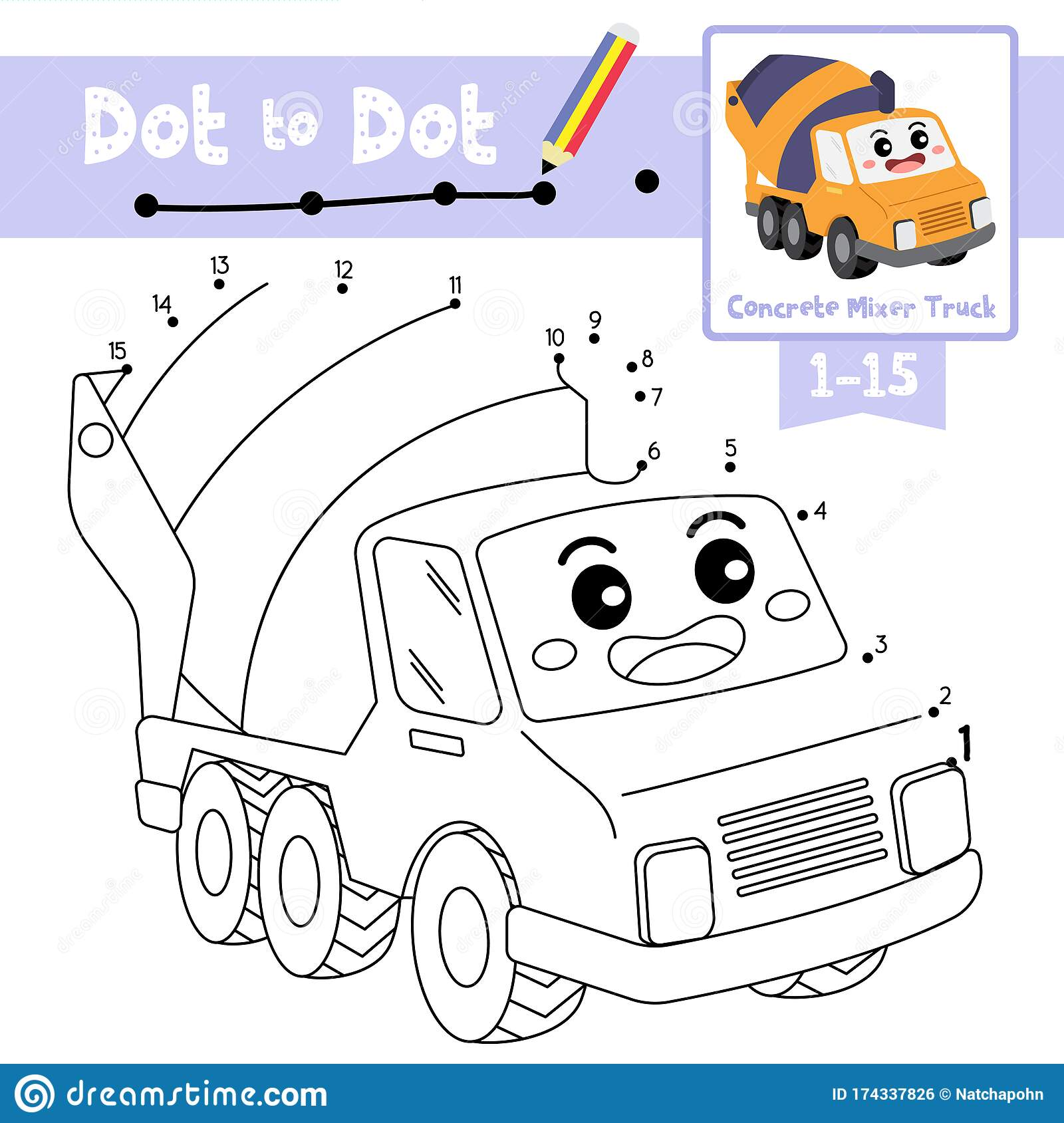 Dot To Dot Educational Game And Coloring Book Concrete