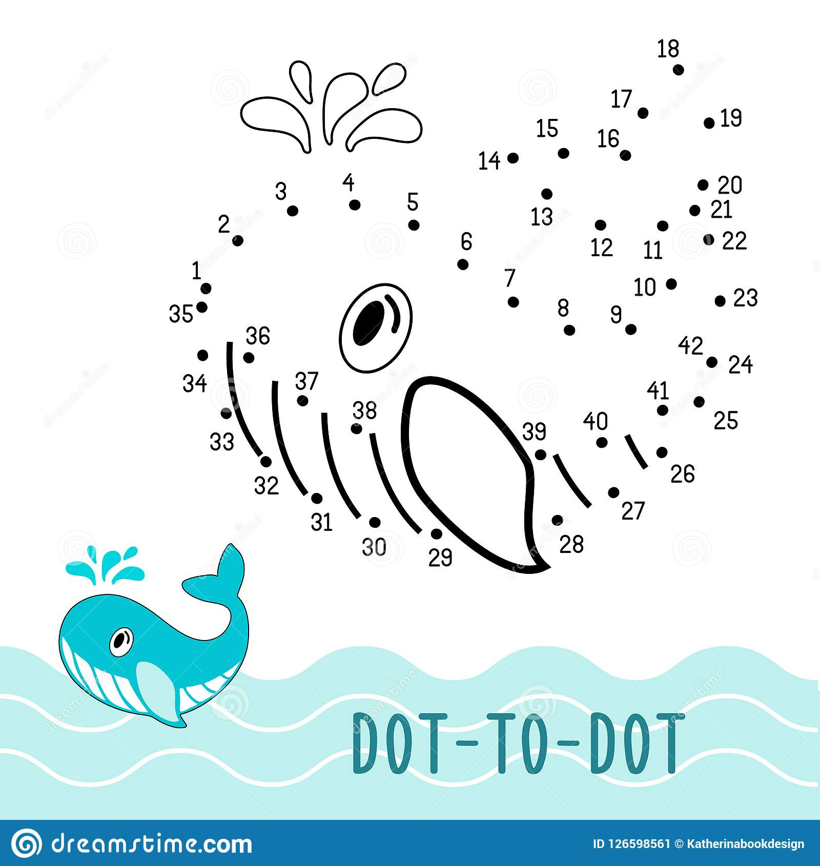 Connect The Dots Children Game Cartoon Vector