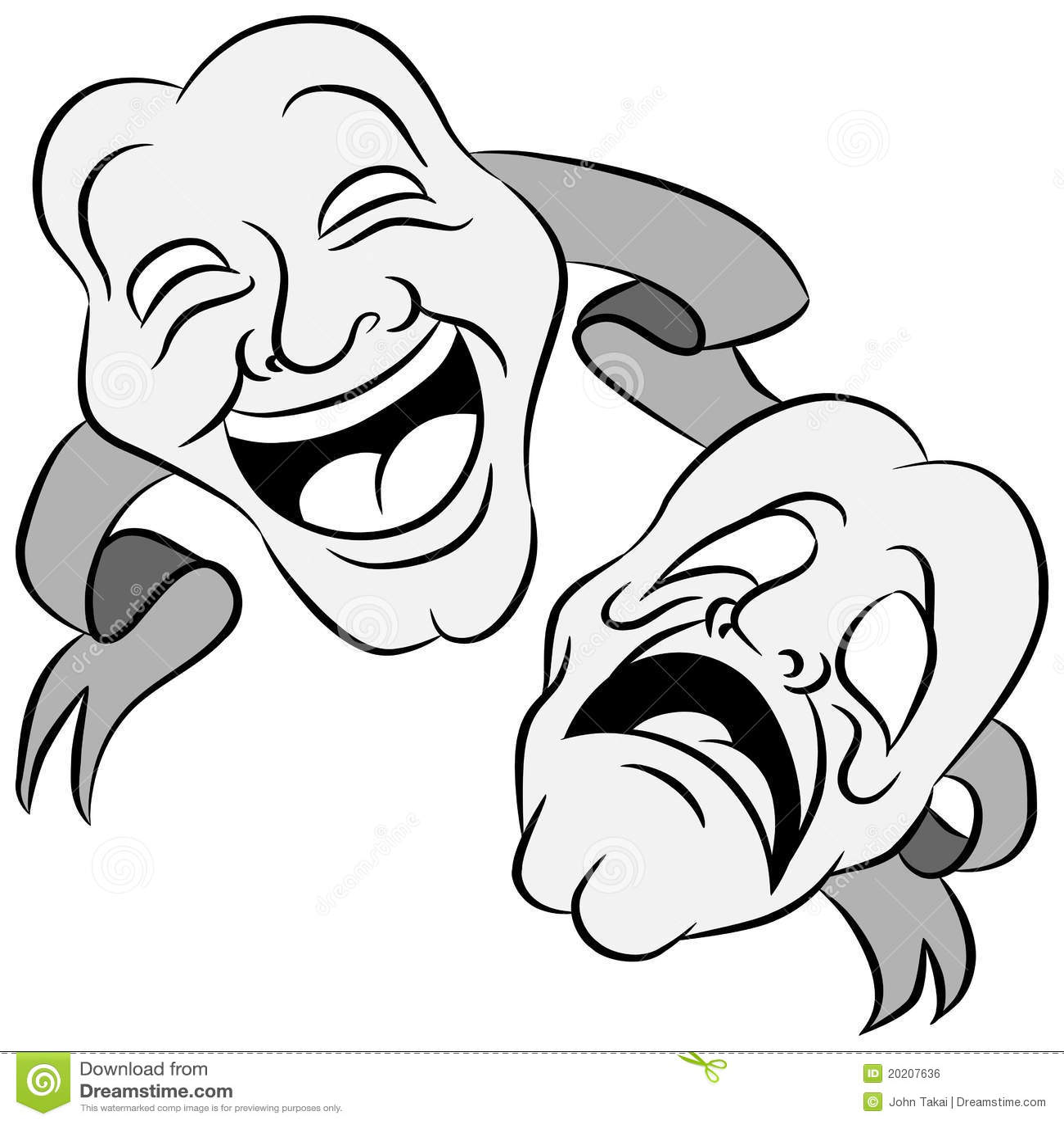 Drama Masks Stock Vector Illustration Of Acting Smiling
