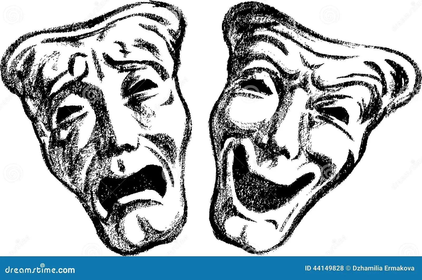 Dramatic Masks Stock Vector Image Of Masks Cheerful
