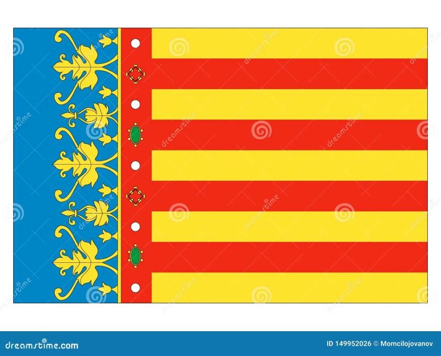 Drapeau De La Ville Espagnole De Valence Illustration de ...