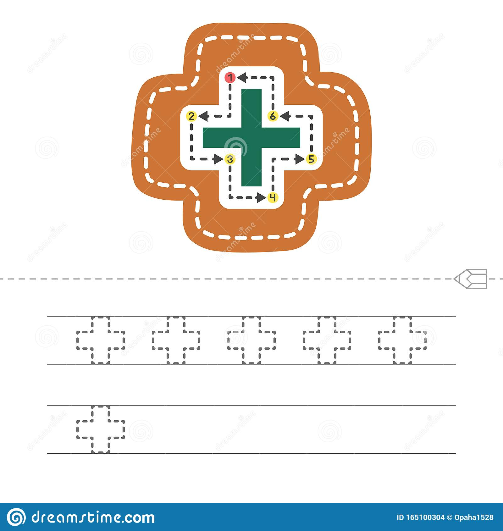 Draw A Cross Stock Vector Illustration Of Figure Child