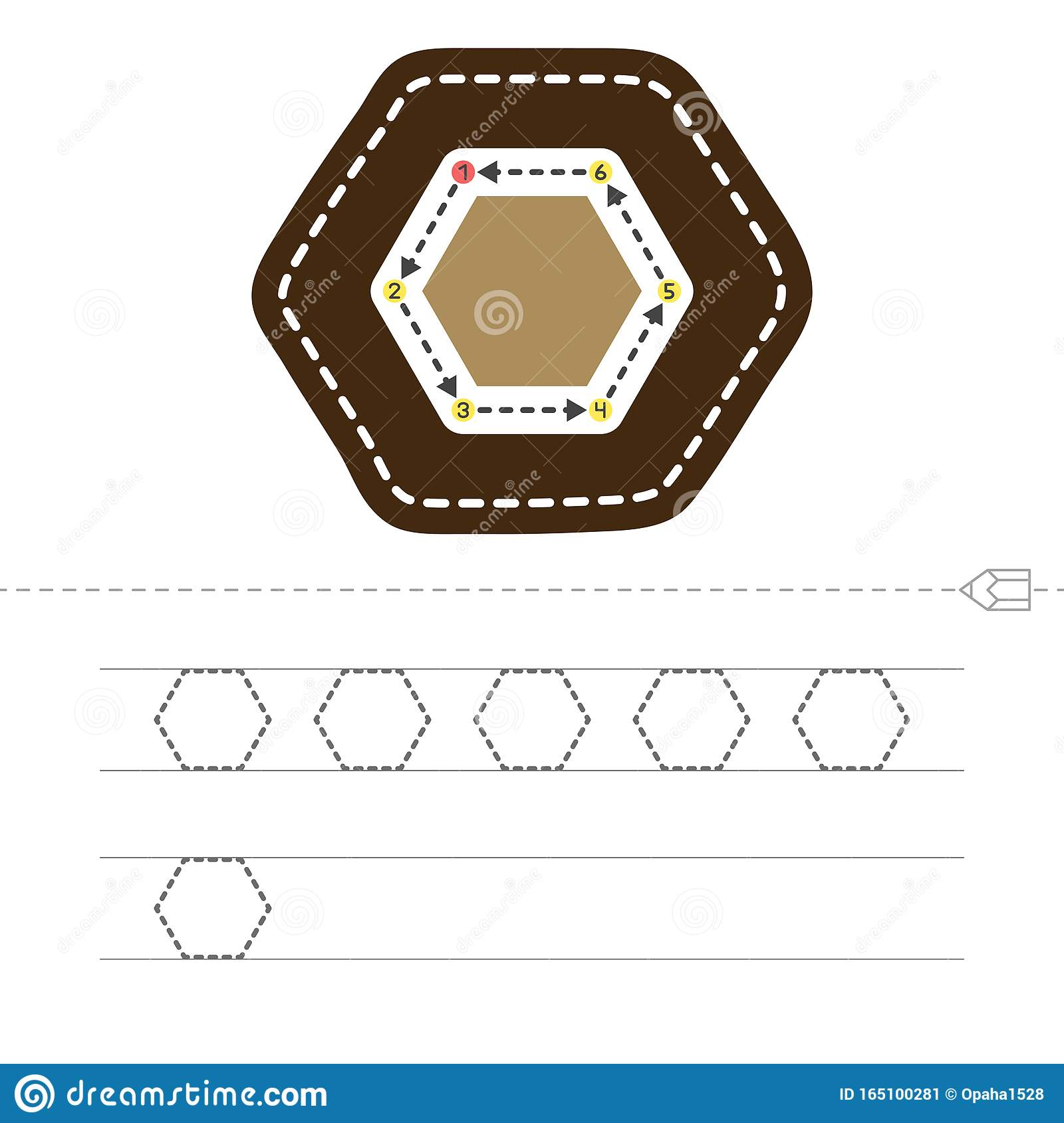 Draw A Hexagon Stock Vector Illustration Of Geometry