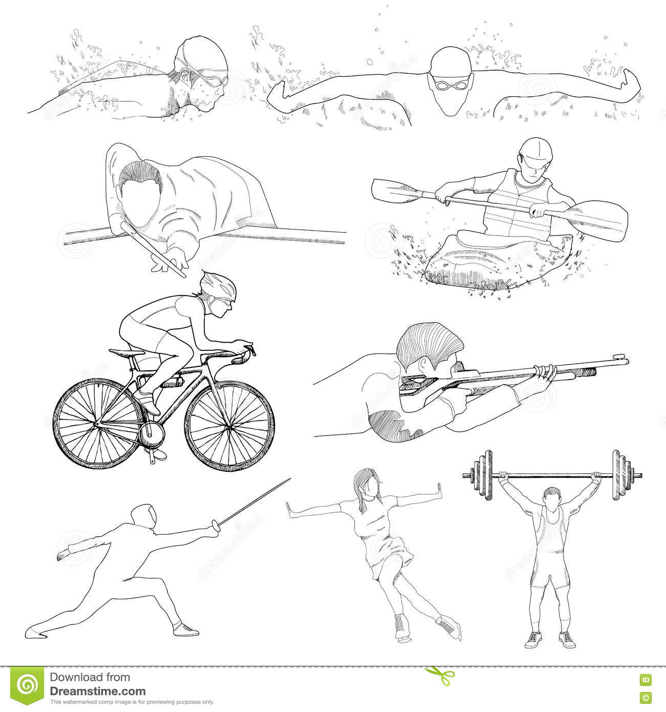 Drawing Of Sport Element Stock Vector