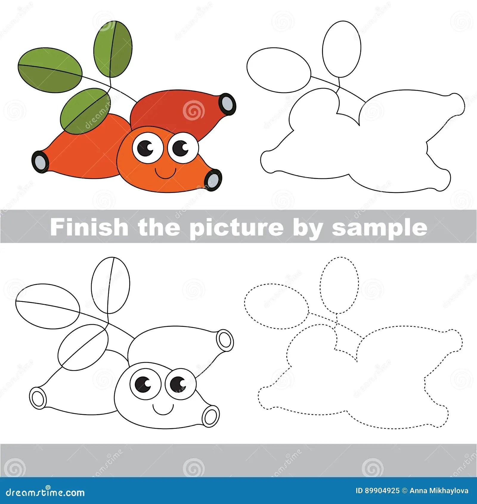Drawing Worksheet Stock Vector Illustration Of Fruit