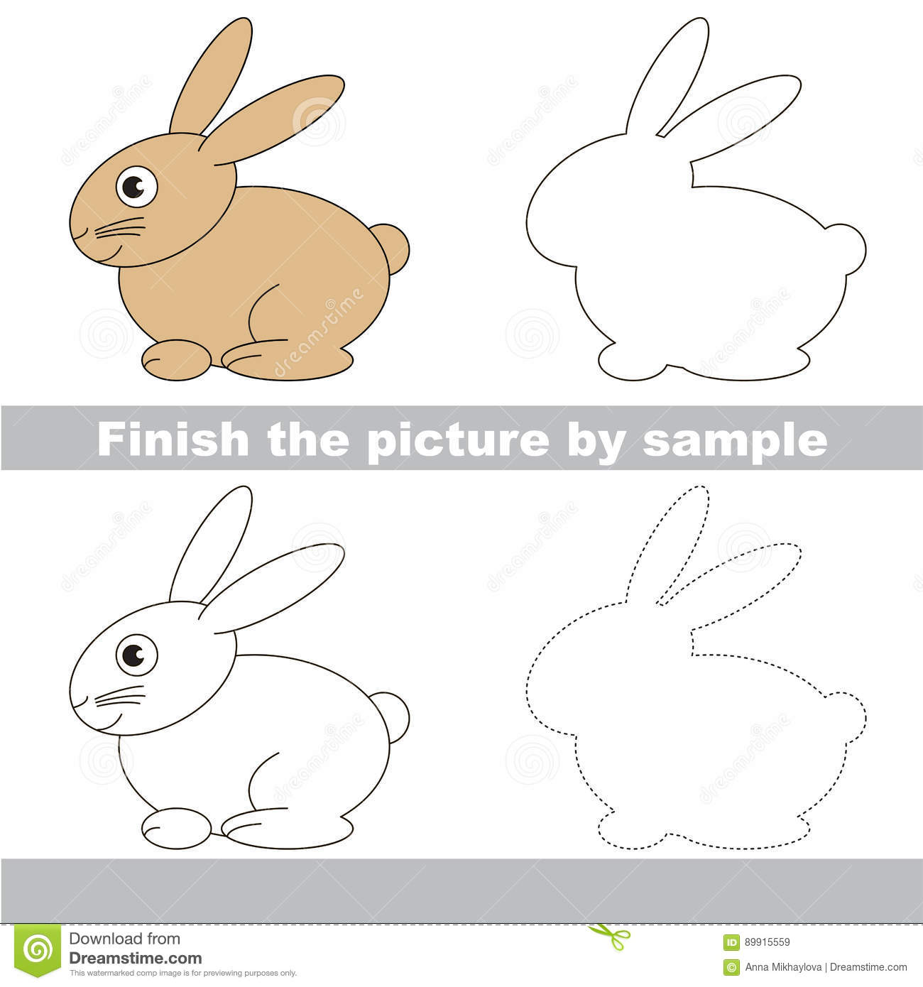 Drawing Worksheet For Children Stock Vector
