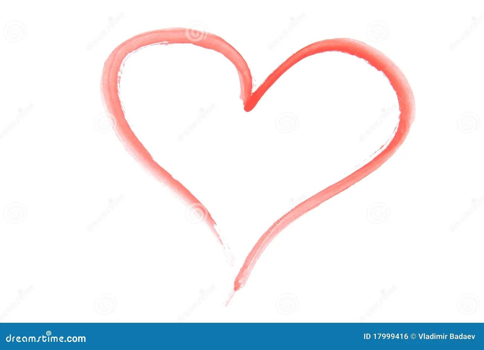 Drawn Happy Valentines Heart Royalty Free Stock Image