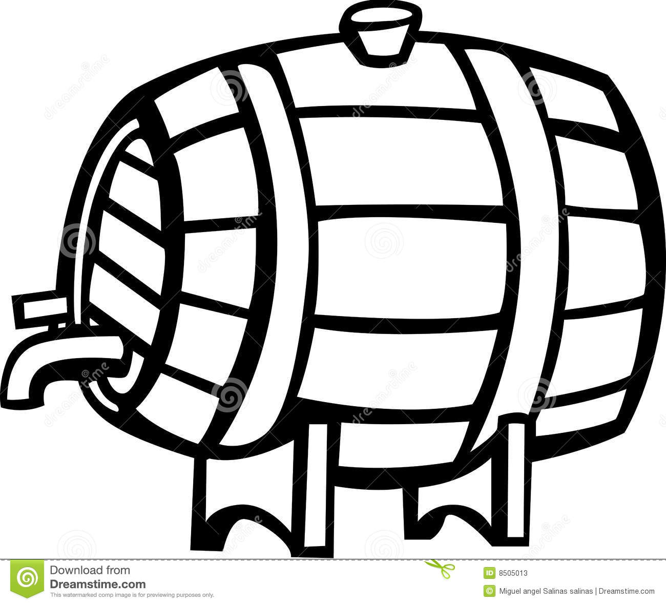 Drink Barrel Vector Illustration Stock Photos