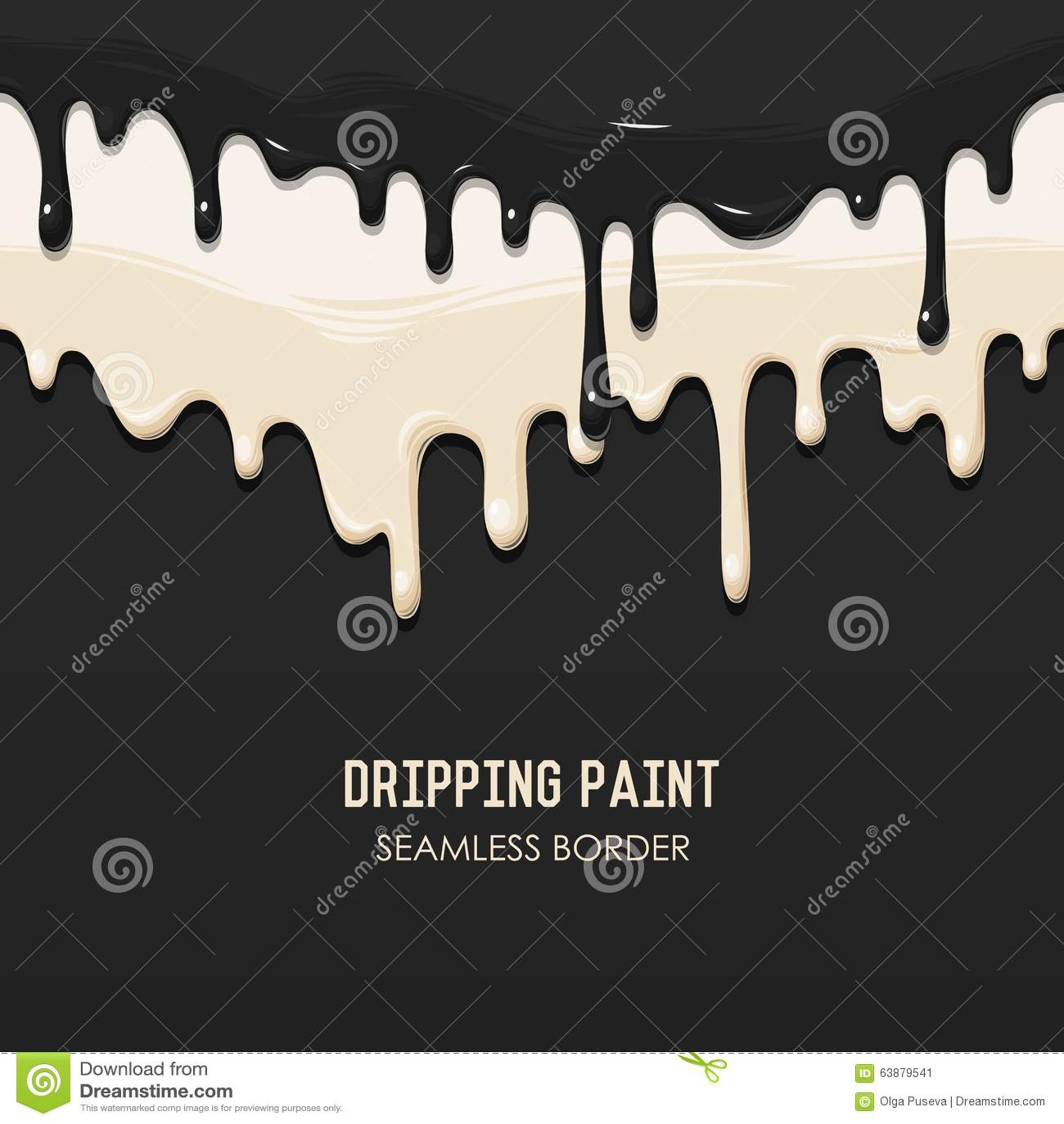 Border Clip Art Dripping Background
