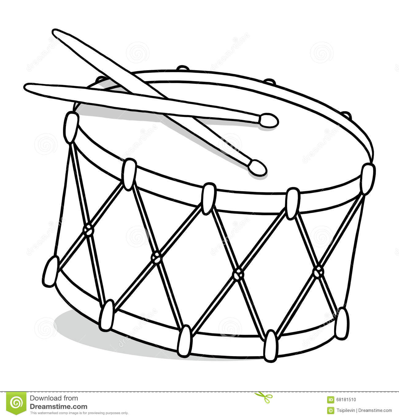 Drum Outline Illustration Royalty Free Illustration