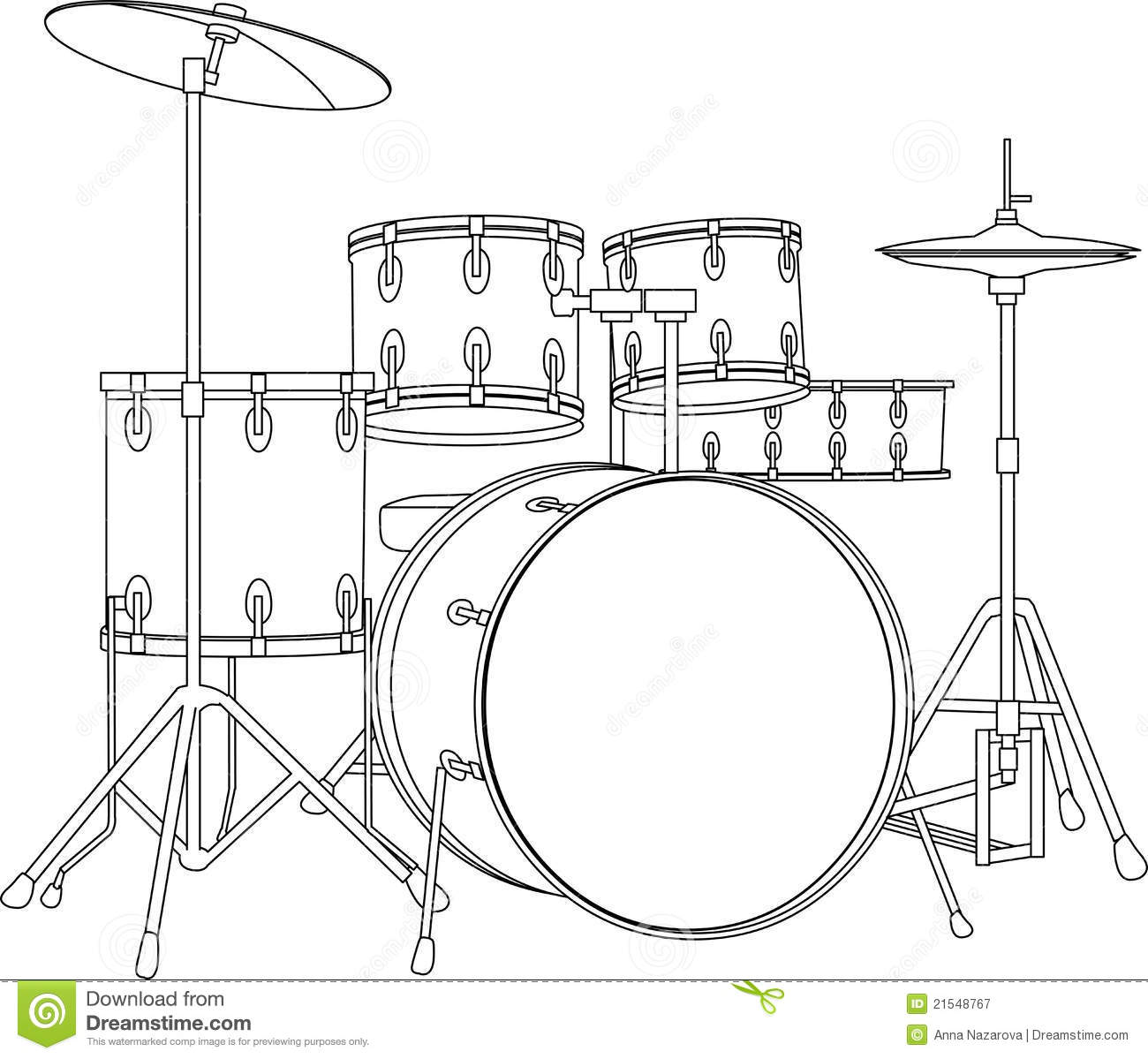 Drum Set Stock Vector Illustration Of Concert Vector
