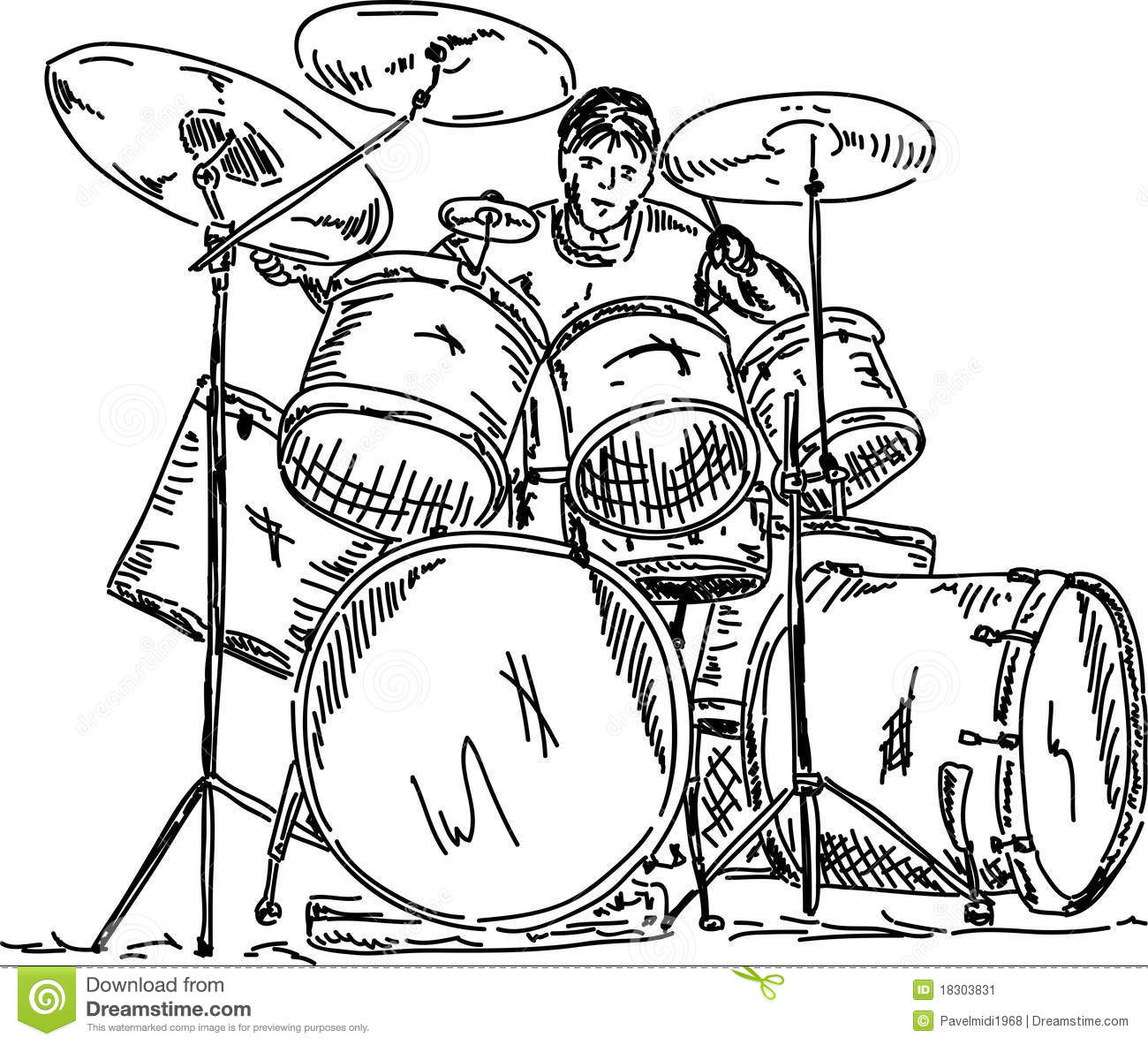 Drummer Playing Stock Image