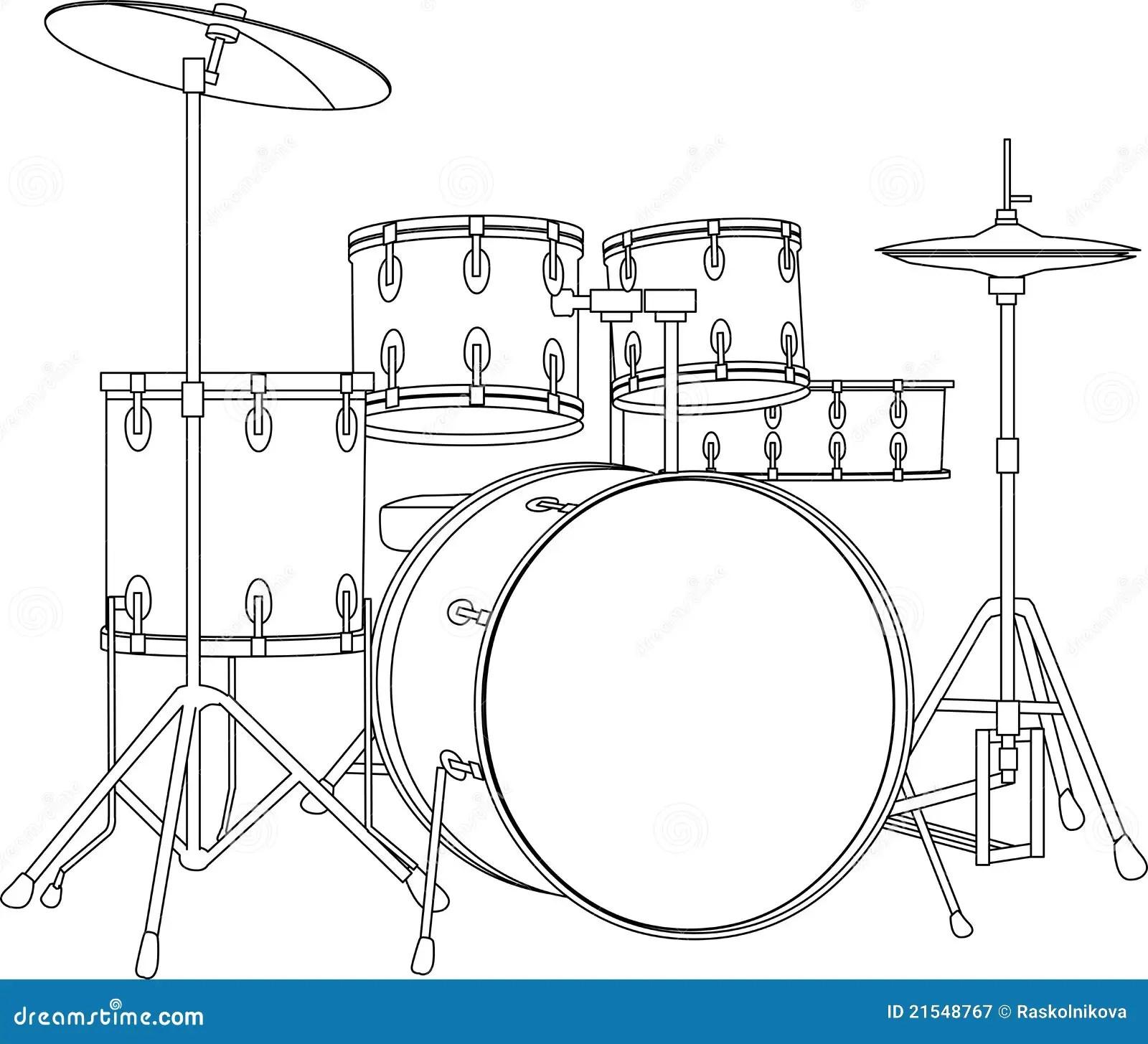Drumstel Vector Illustratie Illustratie Bestaande Uit