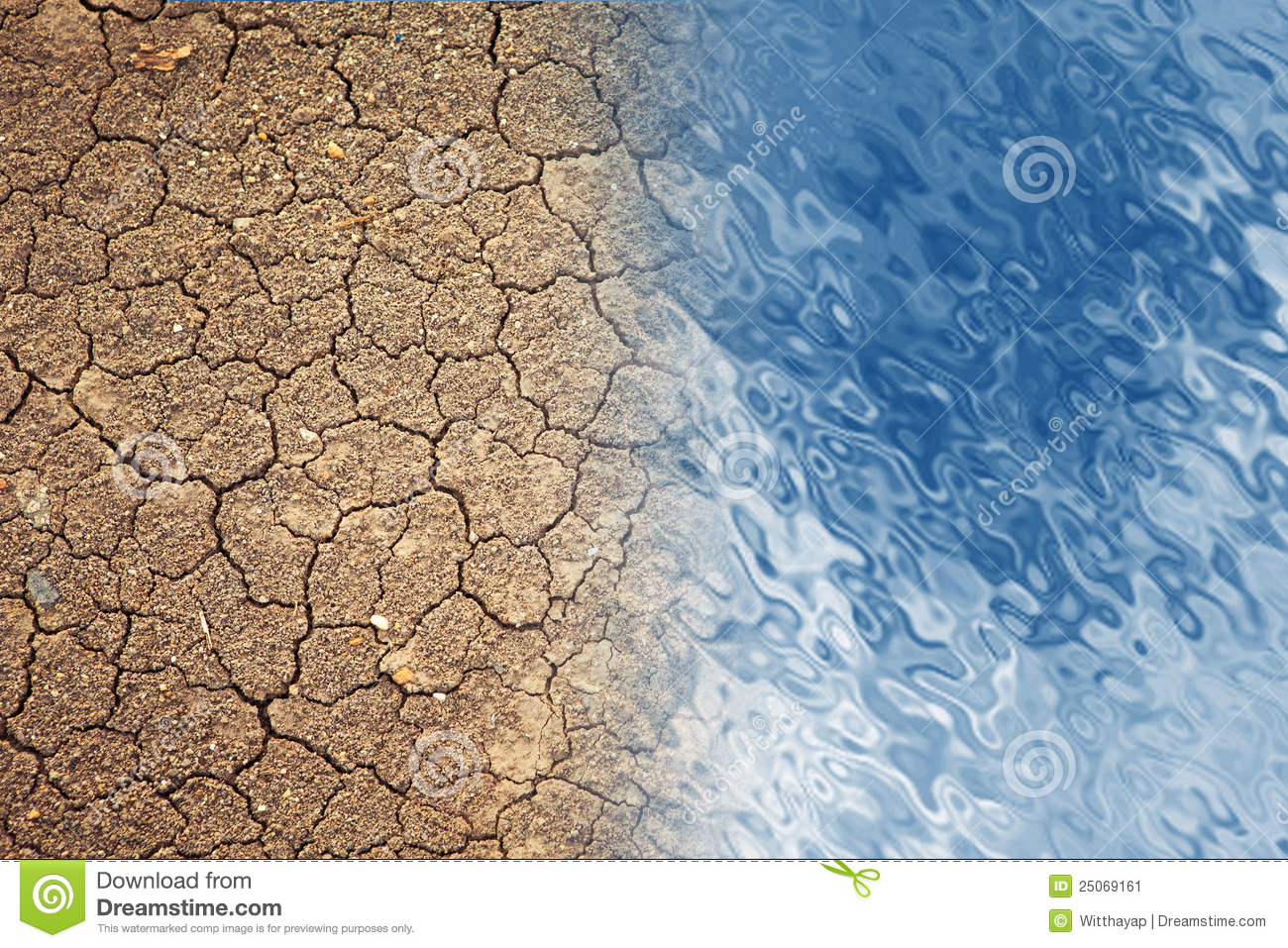 Dry Land And Water Stock Image Image Of Clay Dust