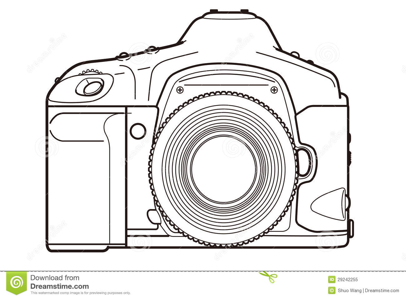 Dslr Camera Stock Illustration Illustration Of Angle