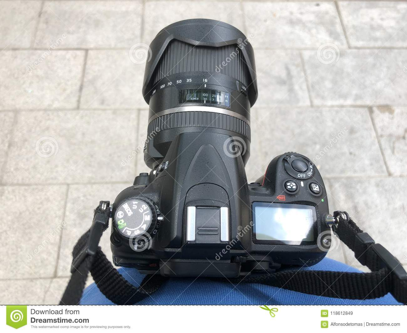 Dslr Camera Photographer Point Of View Stock Image