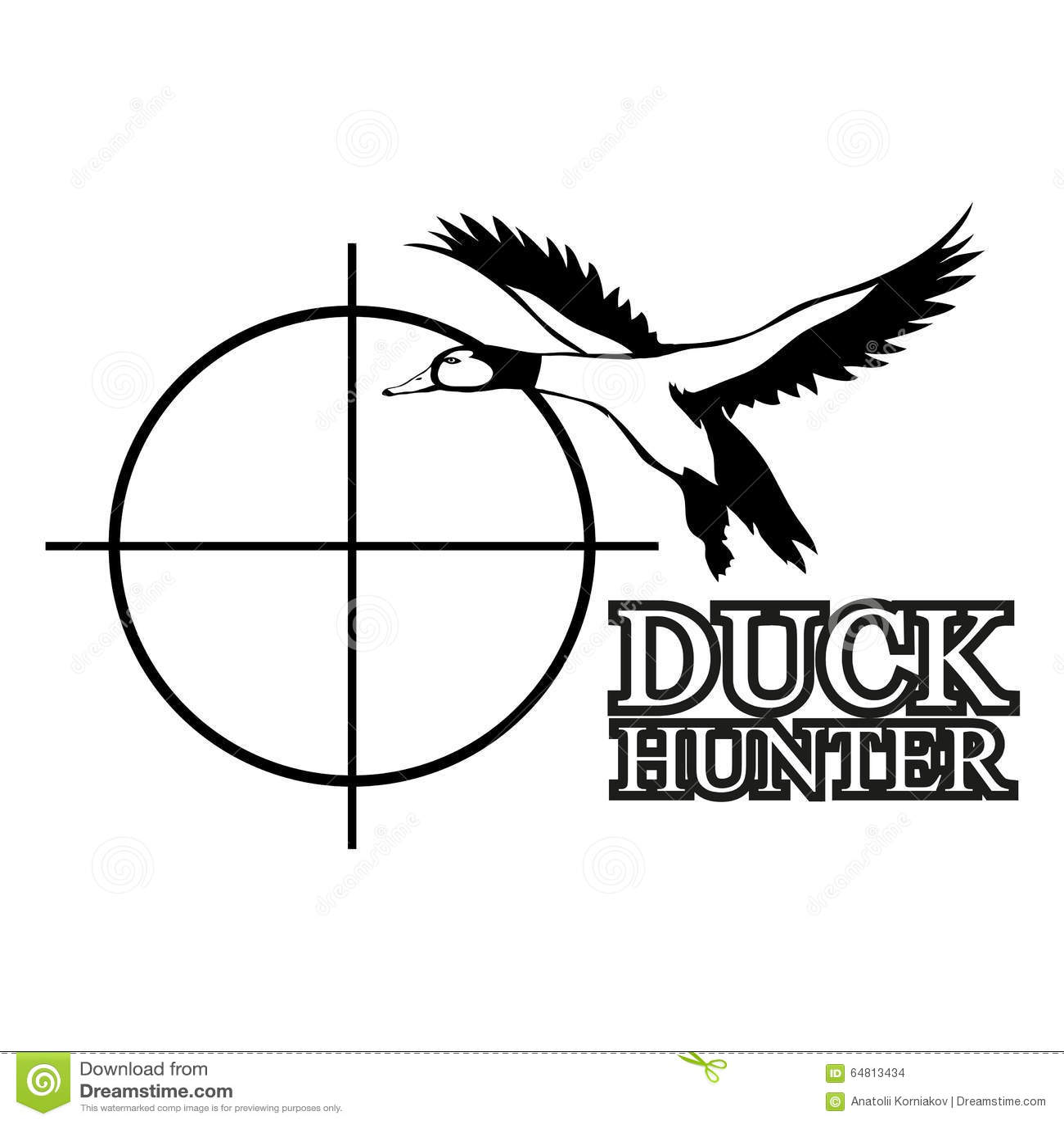 Duck Hunting Stock Vector