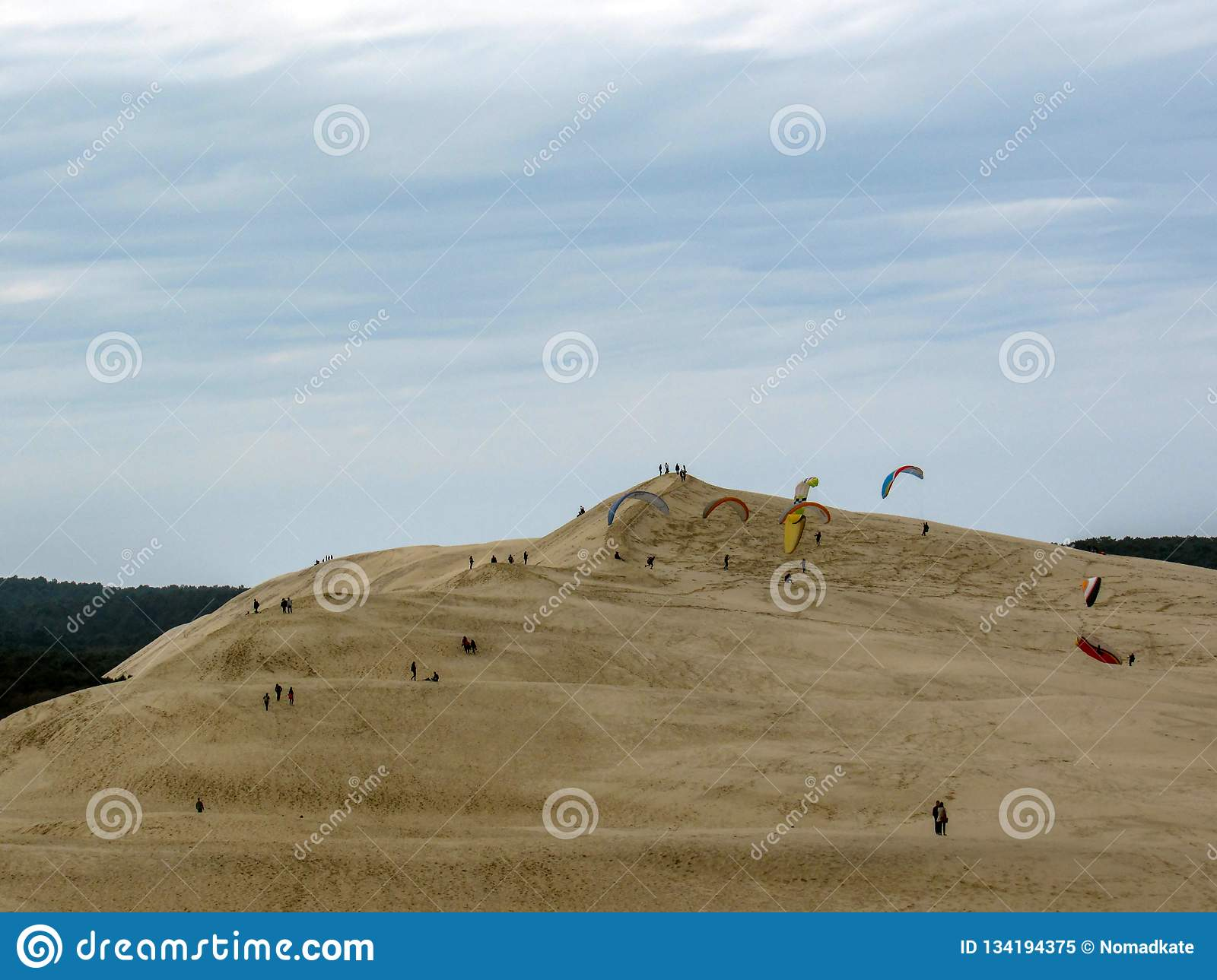 dune of pilat view of the arcachon bay and the tallest sand dune in europe arcachon bay atlantic ocean aquitaine famous tourist destination in france