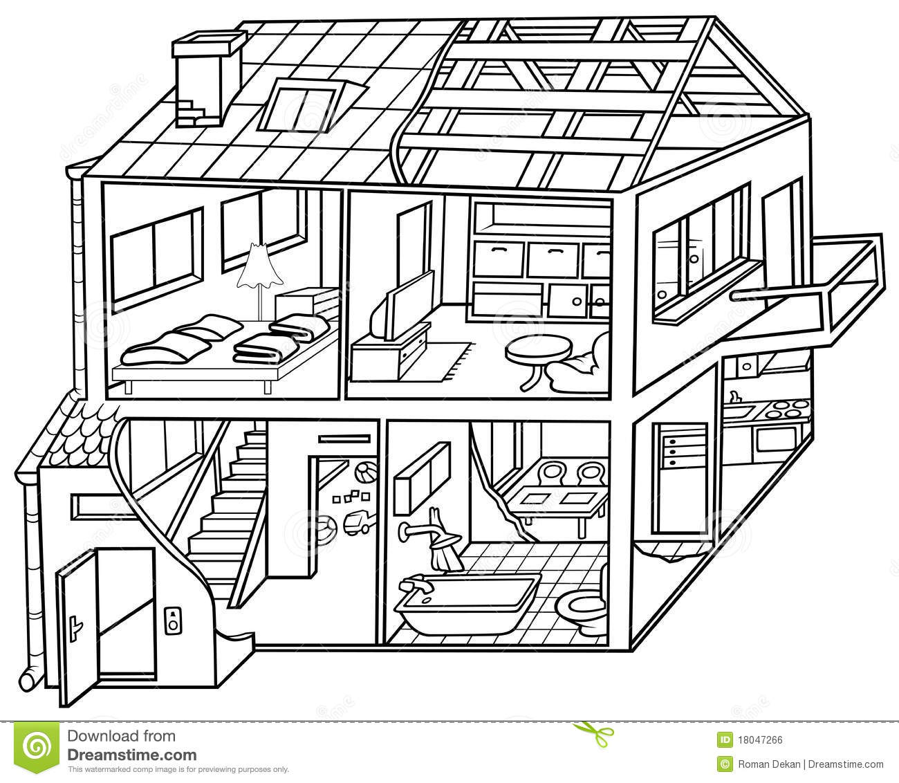 Living Room Coloring Page Of Table Sketch Coloring Page