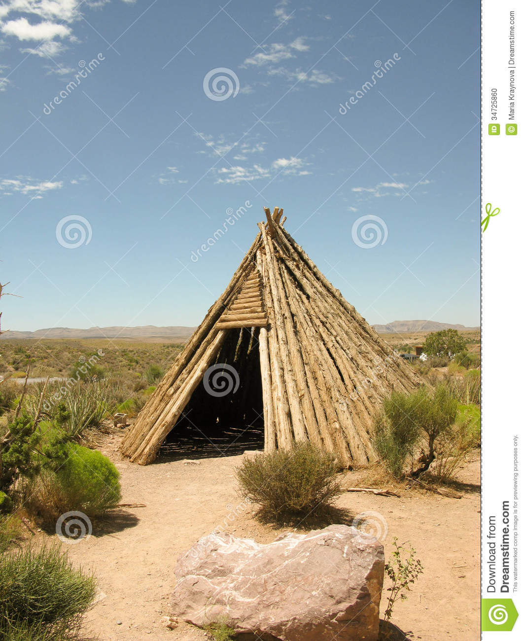 Dwelling Of The Native American Indian Stock Photo