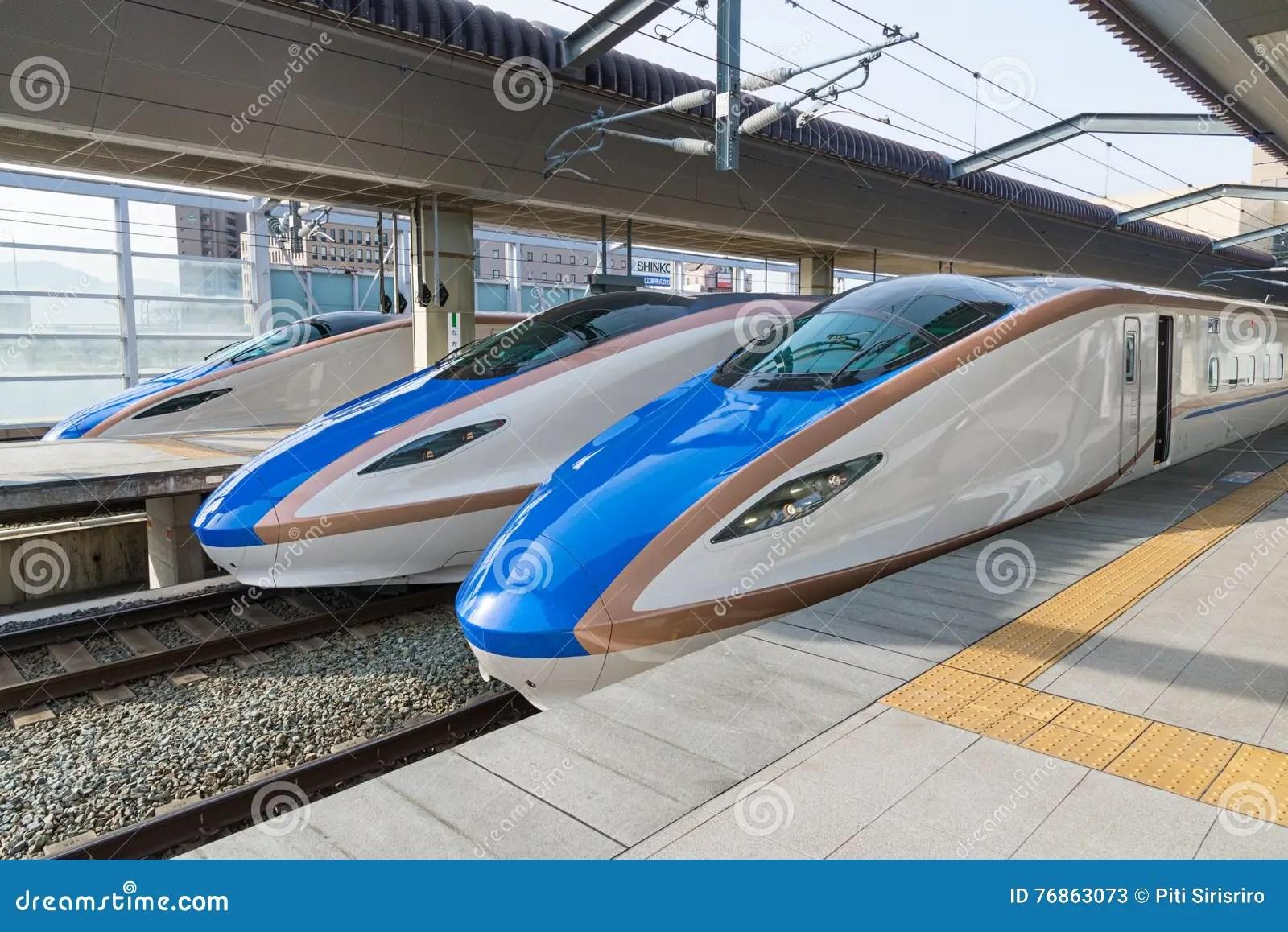 E7 W7 Series Bullet High Speed Or Shinkansen Trains
