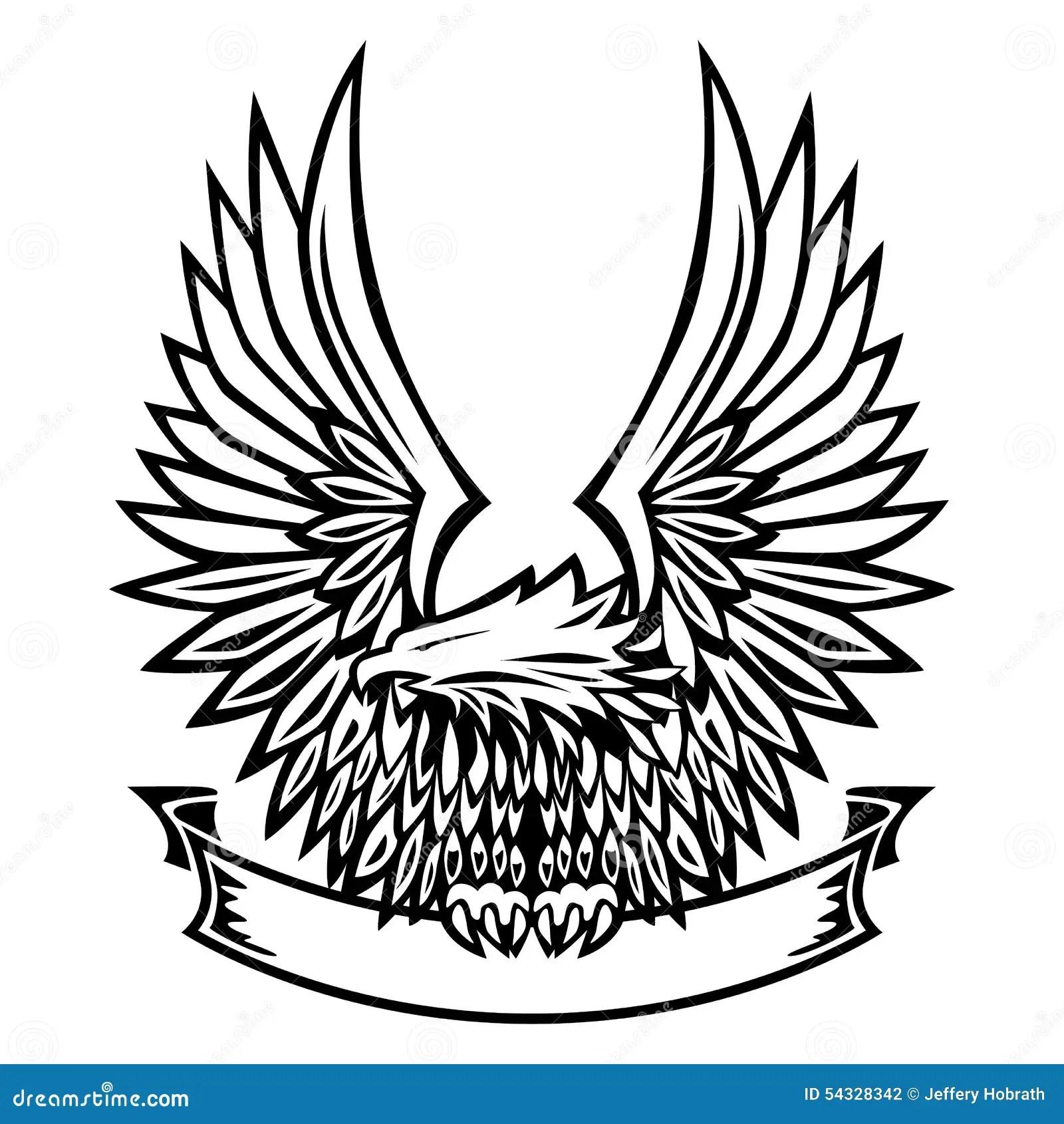 Eagle Emblem Diffusion D Ailes Tenant La Banniere