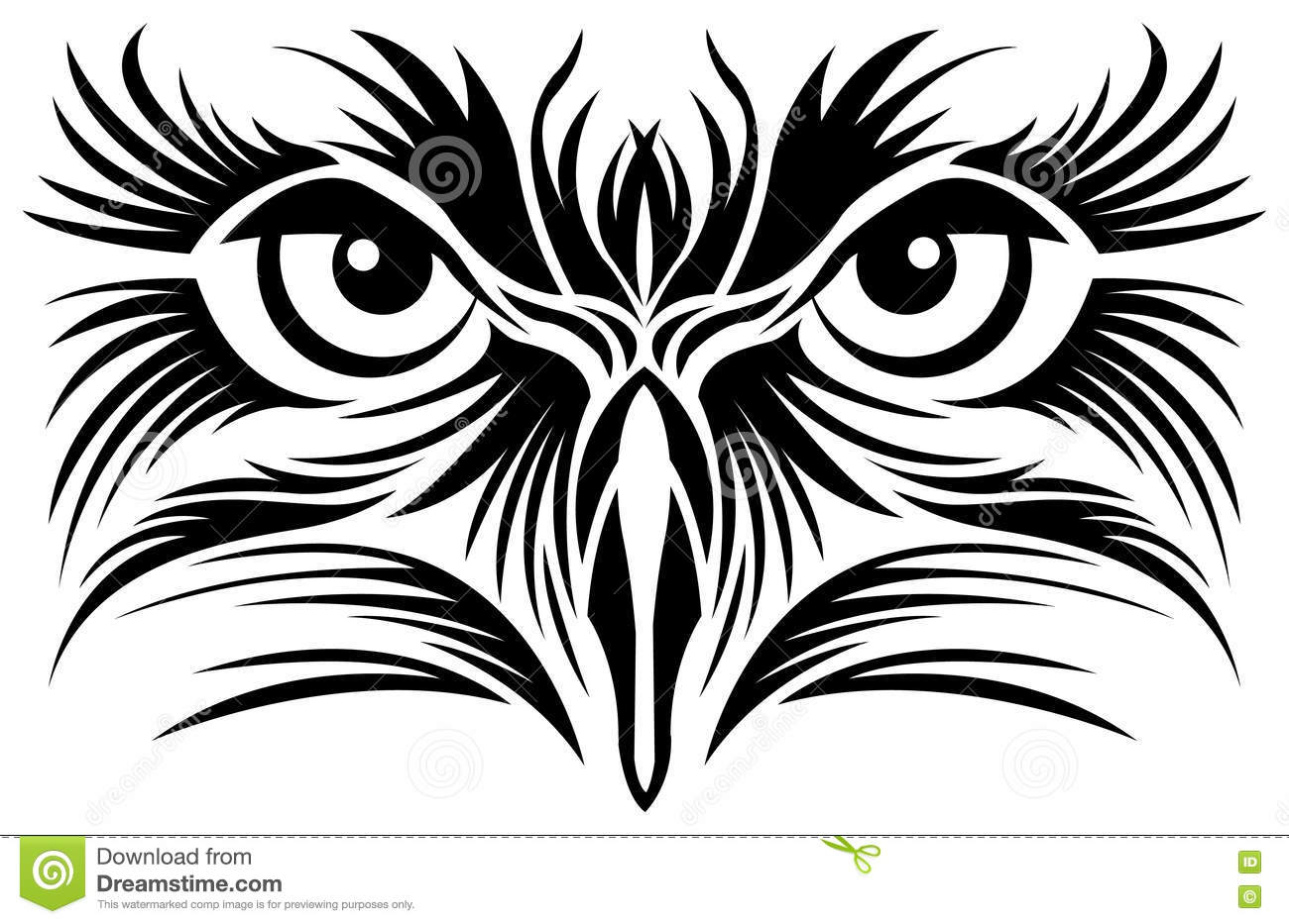 Atacking Eagle In Flames 4 Royalty Free Stock Photo