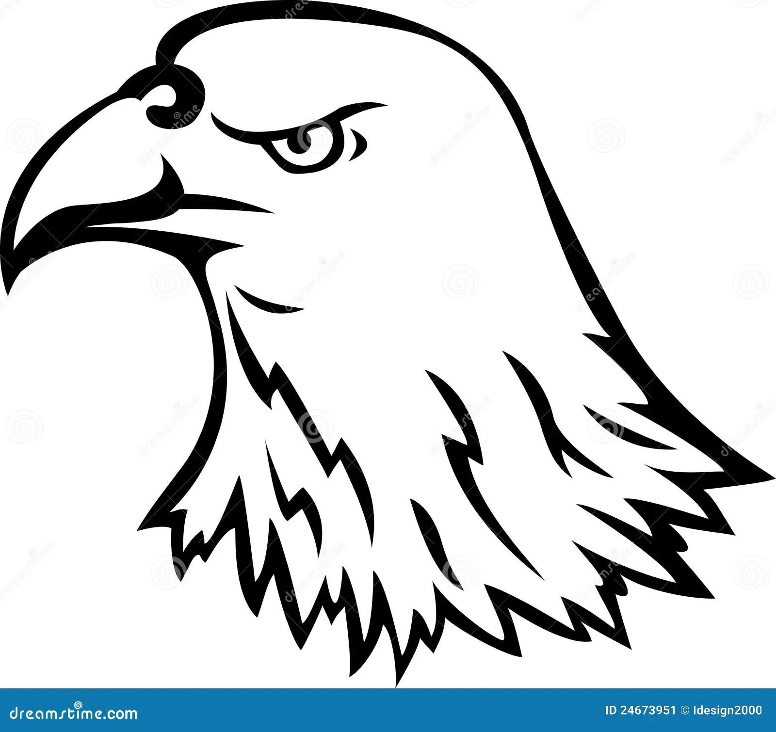 Eagle Head Tattoo Stock Vector Illustration Of Predatory