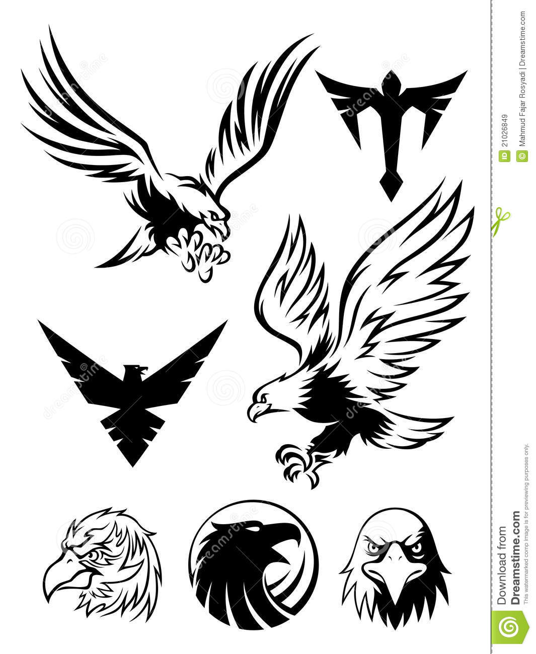 Eagle Symbol Stock Vector Illustration Of Strength