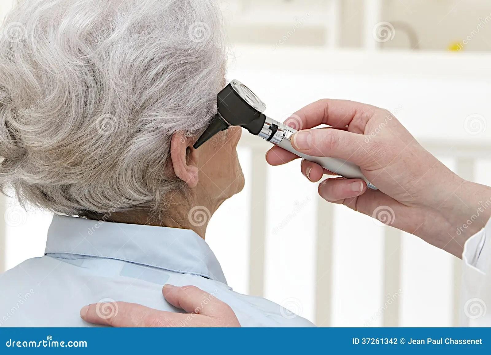 Ear Exam For Senior Woman Stock Photo Image Of Otolaryngology