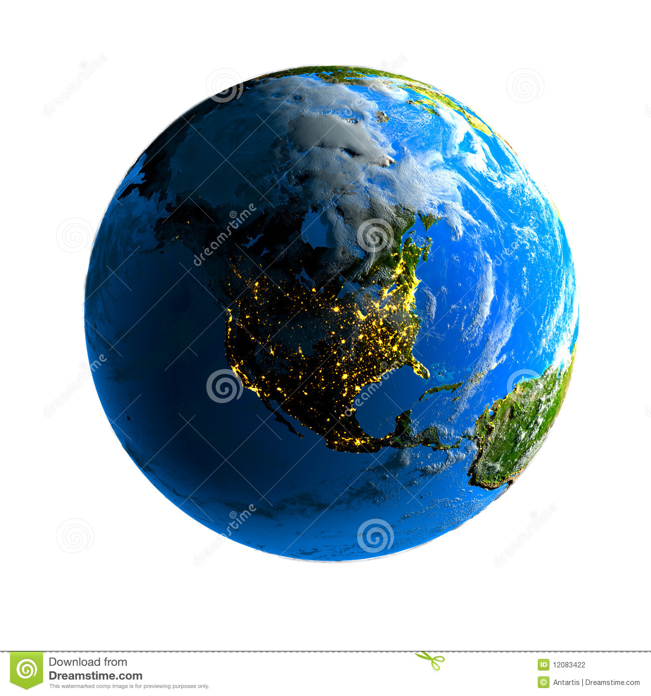 Earth Day And Night Stock Illustration Image Of Planet