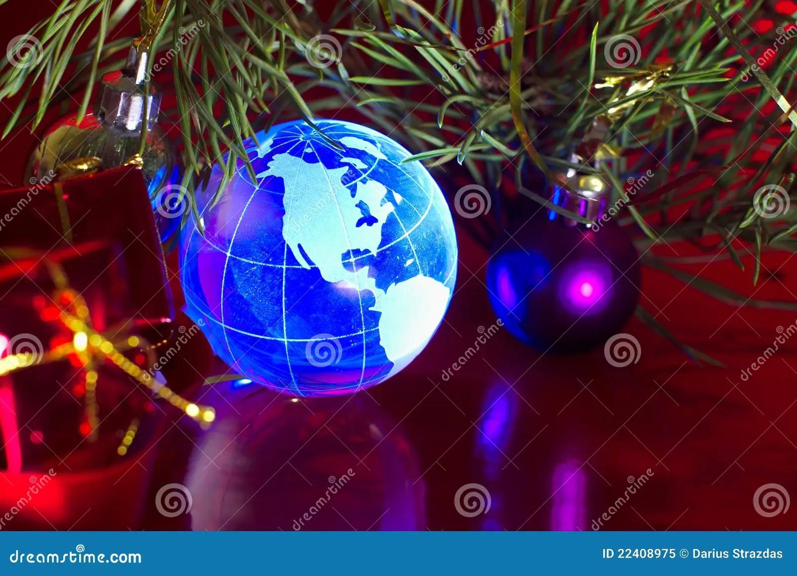 Earth Globe North America Christmas Background Royalty