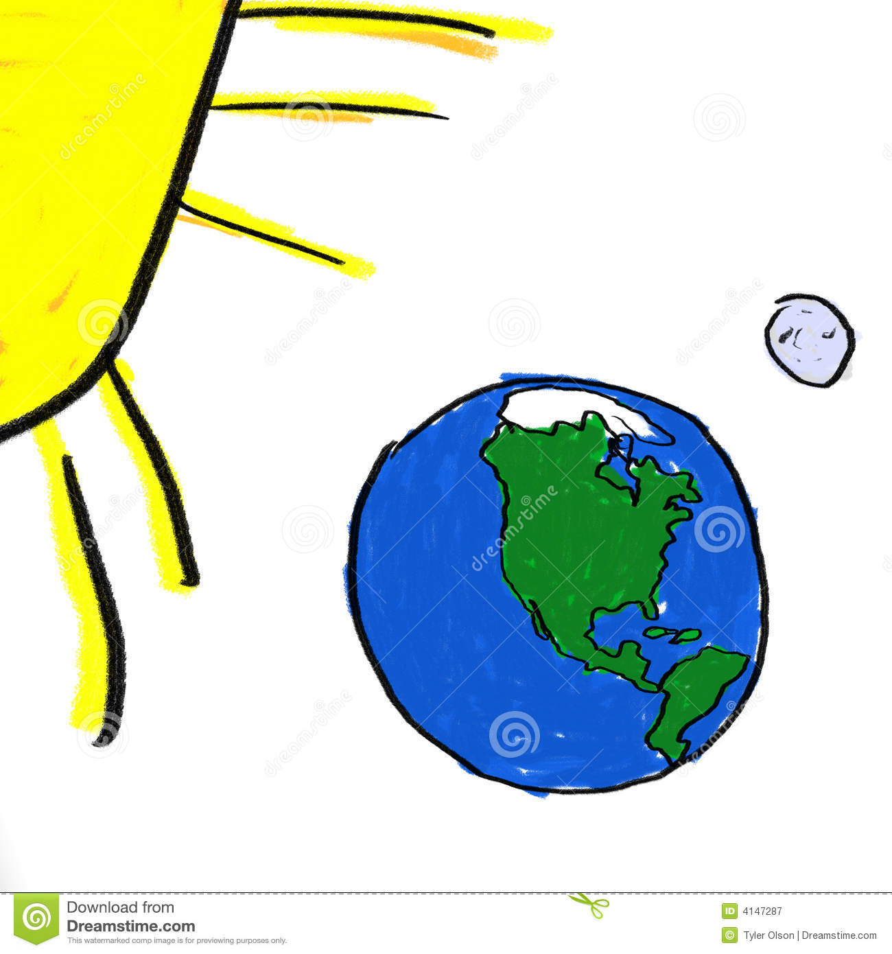 Earth Moon Sun Stock Illustration Illustration Of North