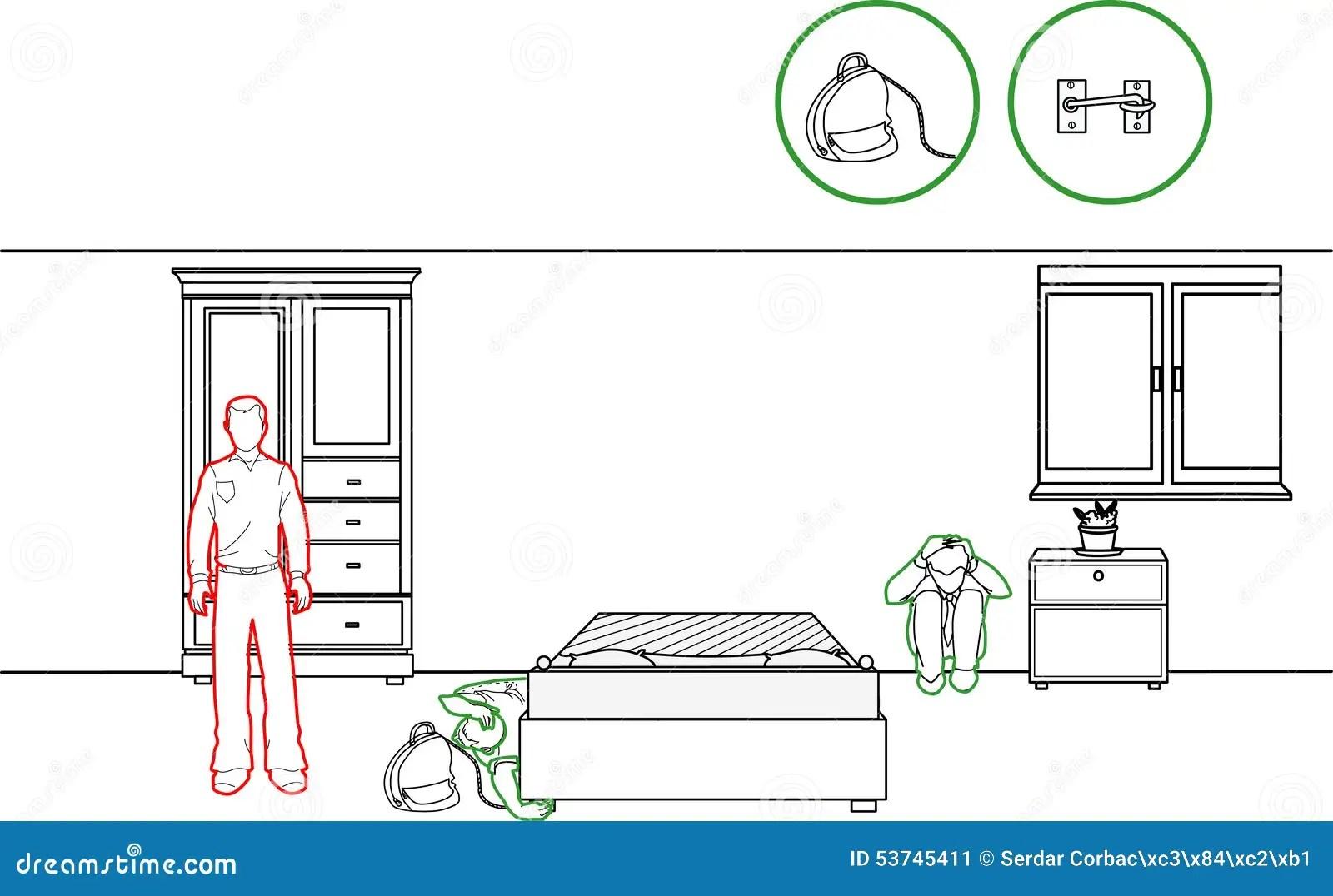 Earthquake Protection Methods Stock Vector Illustration