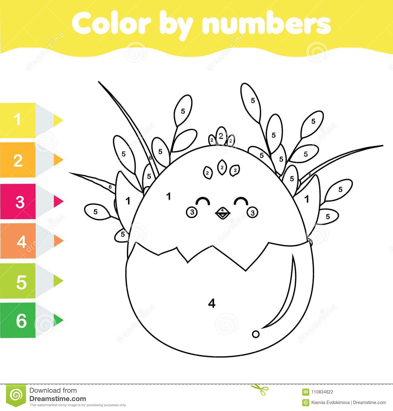 Easter Activity Children Educational Game Mathematics
