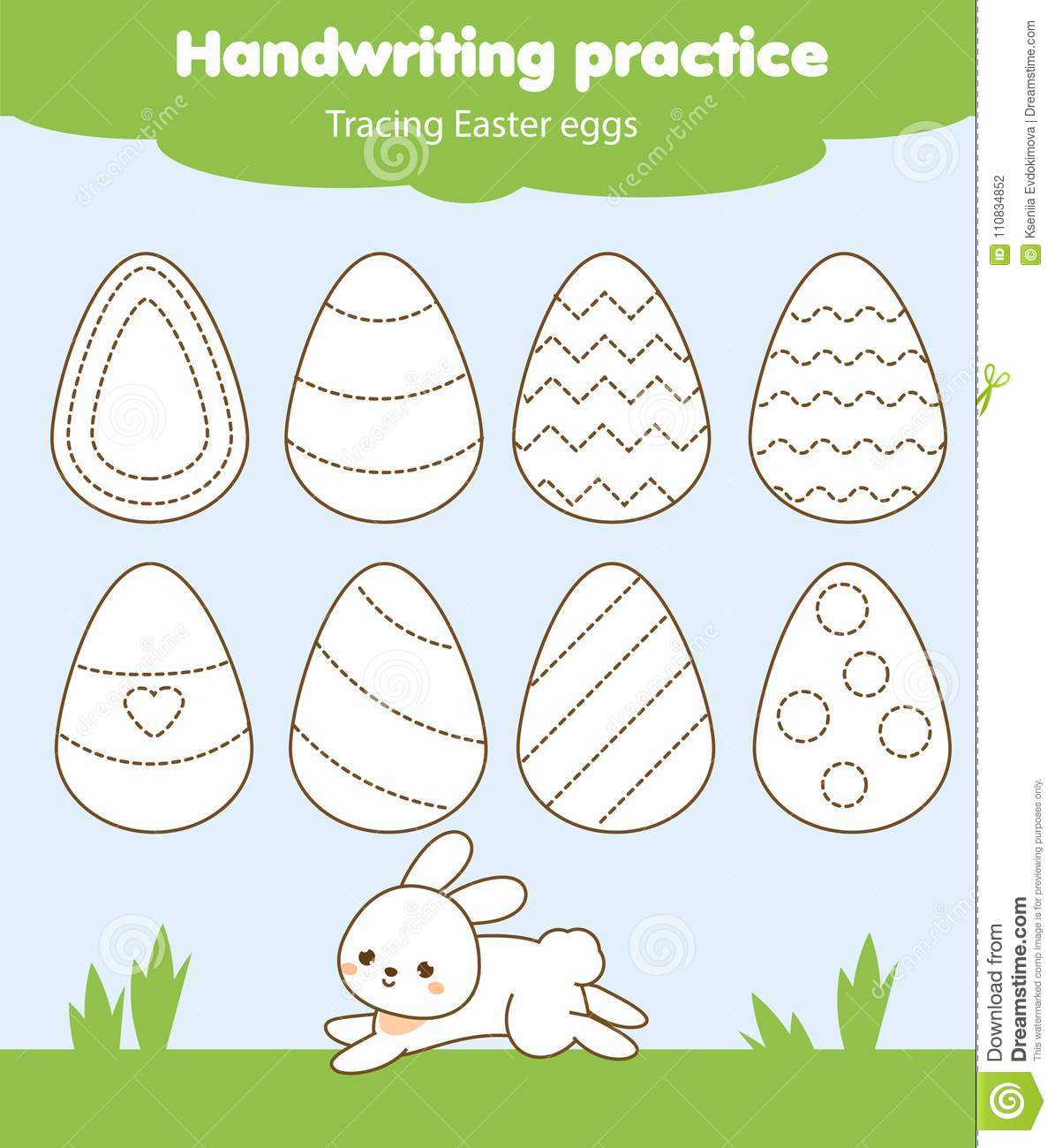 Easter Activity Tracing Lines For Toddlers Handwriting
