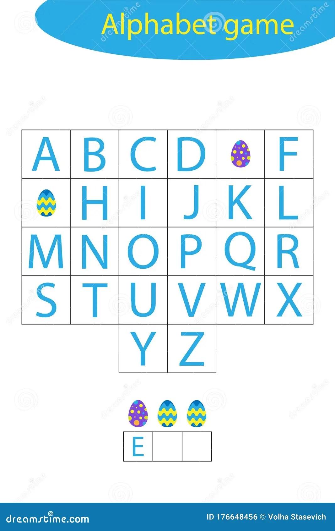 Easter Alphabet Game For Children Make A Word Preschool