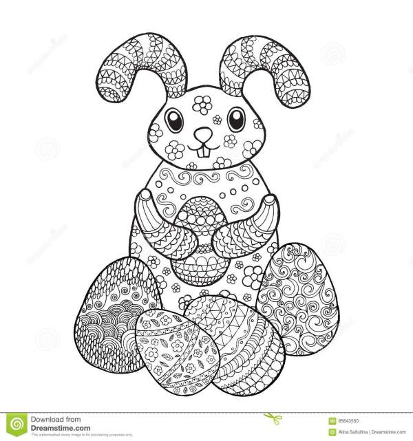 bunny rabbit coloring pages # 10