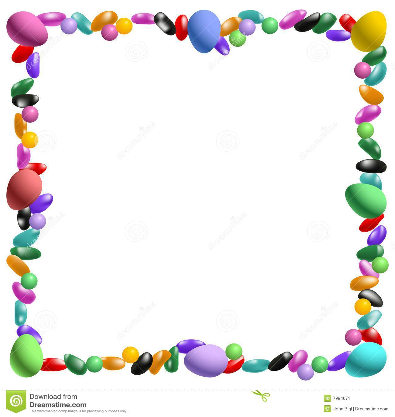 Easter Candy Border Stock Vector Illustration Of Border