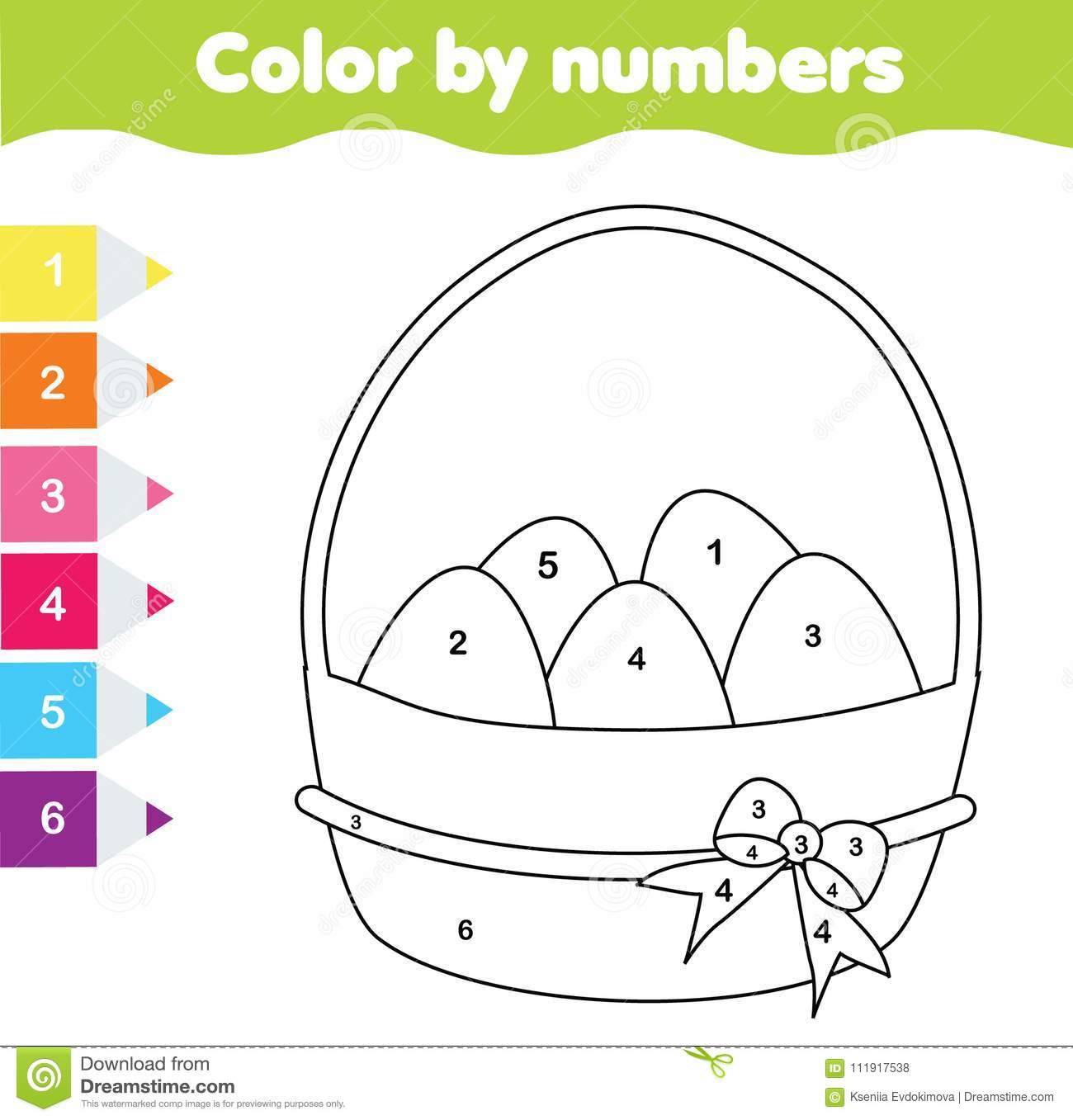 Easter Preschool Worksheet About