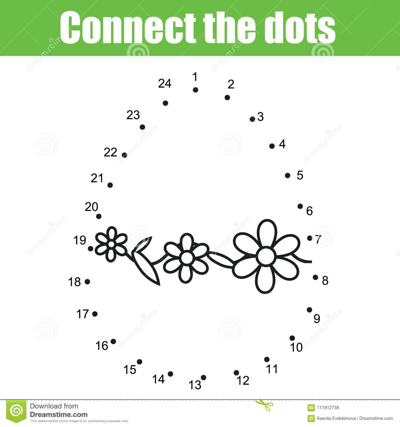 Easter Game Connect The Dots By Numbers Children